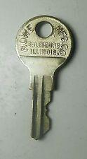 Chicago RX416 Key Padlock Washing Machine Vending Nickel Silver Brass Vintage