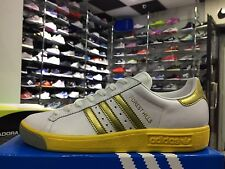 SCARPE N. 44 2/3 UK 10 CM 28.5 ADIDAS FOREST HILLS  SNEAKERS COL.BIANCO / ORO