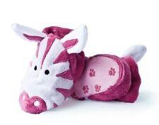 Baby Girls Cute Pink Zebra Design Super Cosy Fleece Slipper Bootees 0-12 Months