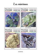 Guinea Minerals Stamps 2020 MNH Azurite Beryl Malachite Cuprite Magnesite 4v M/S