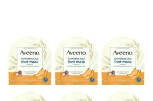 Aveeno Repairing CICA Foot Mask with Prebiotic Oat and Shea Butter, ( 3 Pair ).