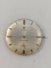 Vintage Cymaflex dial and partial movement (dial 32mm diameter)