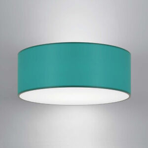 CGC Teal Light Shade Lucia Fabric Opal Diffuser White Drum Pendant Table Lamp