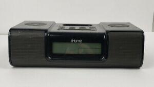 iHome iH9 Clock Radio For Vintage iPod Speaker Alarm - No Power Cord 8.F6