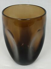 "1 Russel Wright PINCH Imperial Brown Mid Century Art Glass 4 1/2"" WATER TUMBLER"