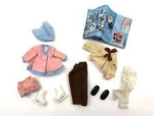 "Vintage Pink Felt Outfit Shoes & Ice Skates 4 Ginny Vogue Doll 8"" Pamphlet 70's"