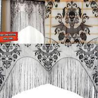 Black Skull Bat Web Curtain Valance Shawl Halloween Decorations Tassel