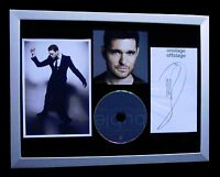 MICHAEL BUBLE+SIGNED+FRAMED+NOBODY+EVERYTHING=100% AUTHENTIC+FAST GLOBAL SHIP!!