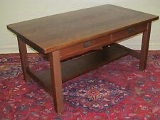 RARE ARTS & CRAFTS MISSION OAK LIBRARY TABLE BY HARDEN -MODEL # 528