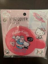 Daiso Japan Hello Kitty Mug cup Cover Brand New pink stocking stuffer gift cute