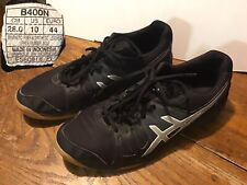 ASICS Women's Gel Upcourt Volleyball Running Shoes Black Silver Size 10 CLEAN