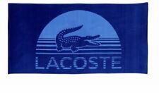 "Authentic Lacoste Blue Daybreak Cotton 36"" X 72"" Beach Towel new"