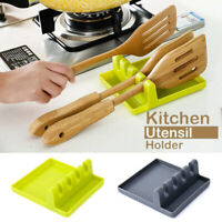 Kitchen Cooking Tools Spoon Rest Utensil Spatula Holder Heat Resistant Tool sm