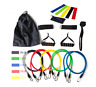 Set 17pcs Bandas Cuerdas  Resitencia Elasticas Yoga Band Gym Fitness