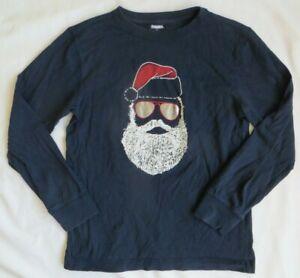 Gymboree Santa Claus Aviator Shades Sunglasses Blue Boys long sleeve shirt 8
