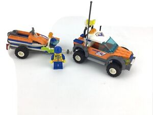 Lego City 7737 Coast Guard 4WD & Jet Scooter Complete