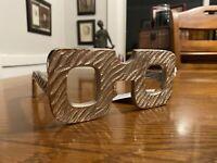 Three Hands 3 in. Metal Eye Glass Square Frame shelf Sitter Hone Decor Funky!
