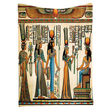 Egyptian Decor Collection, Egyptian Papyrus Depicting Queen Nefertari Makin Q1O2