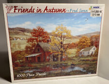 "White Mountain 'Friends In Autumn' 1000 Piece Puzzle 24""x30"" Made In The USA"