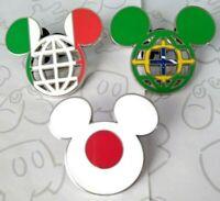 Flag Mickey Mouse Head Ear Lattice Icon Epcot World Showcase Choose a Disney Pin
