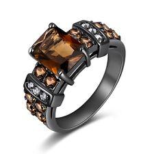 Jewelry Size 10 Fashion Womens Rings Anniversary Tanzanite AAA Black Gold Filled