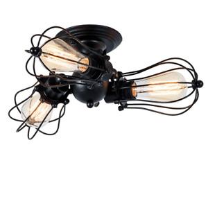 Retro 3 Heads Vintage Ceiling Lights Adjustable Socket Industrial Chandeliers