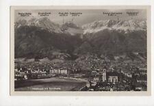 Innsbruck Mit Nordkette Austria 1935 RP Postcard 787a