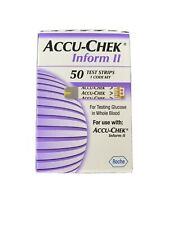 Accu-Chek Inform II, Glucose Test Strips, 50 Count, Exp:08-31-21
