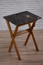 Vintage Mid Century Black Painted Foldable School Desk (30 Available)