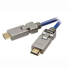 Vivanco HDMI-Verbindungskabel vergoldet Drehbar Stecker-Stecker 1,5m