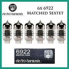 New 6x Electro Harmonix 6922 / E88CC / 6DJ8 | Matched Sextet / Six | EH