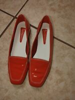 ENZO ANGIOLINI RED PATENT LEATHER SHINY LIBERTY 8M 8 M