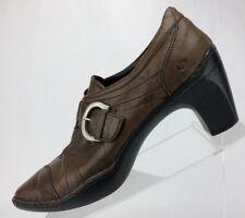Josef Seibel Pumps - Brown Leather Casual Monk Strap Women's Size 41 Us 10/10.5