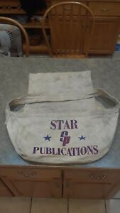 VINTAGE NEWSPAPER PAPER BOY CANVAS DELIVERY BAG STAR PUBLICATIONS