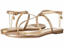 ALEXANDER MCQUEEN  Sandal Pelle S. Cuoio mekong 151 gold new with box 38.5