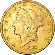 [#851243] Coin, United States, Liberty Head, $20, Double Eagle, 1893, U.S. Mint
