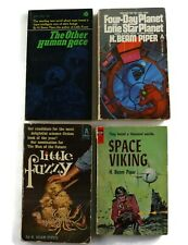 Lot of 4 Vintage Sci Fi by H Beam Piper-Space Viking other human race - + Pb