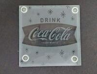 "Coca-Cola ""Fishtail"" Glass Coasters (Set of 4) - BRAND NEW"