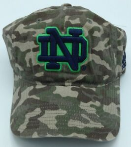 NCAA Notre Dame Fighting Irish Adidas Youth Camo Adjustable Slouch Cap Hat NEW!