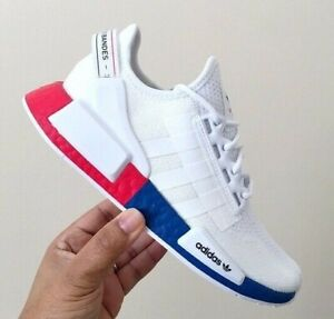 ADIDAS ORIGINALS NMD_R1 V2 WHITE LUSH RED FX4148 MEN'S RUNNING SHOES AUTHENTIC