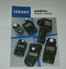 LEAFLET FOR SEKONIC DIGITAL AND ANALOG LIGHT EXPOSURE METERS AND ACCESSORIES