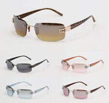 Women Sunglasses Designer Fashion Eyewear Rectangle Rimless Shades Hot New #7024