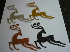 PACK OF 4 LARGE SIZZIX REINDEER DIECUTS