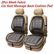 2X Mesh Lumbar Back Brace Pad Support Office Home/Car Seat Massage Waist Cushion