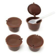 4x Reusable Coffee Capsules Cup Filter For Dolce Gusto Refillable Brewers Nes BT
