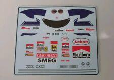 "Ferrari 312T4 Gilles Villeneuve "" Figure Decals - French GP "" 1979 1/18"
