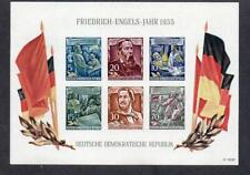 EAST GERMANY MNH 1955 MSE233a 135TH BIRTH ANV OF ENGELS