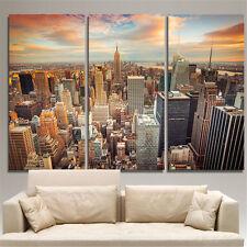 New York City Quadro Moderno 3 Pezzi Stampa su Tela Arredamento Arredo Arte