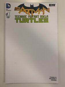DC : BATMAN/TEENAGE MUTANT NINJA TURTLES #1 OF 6 SKETCH COVER : VF CONDITION