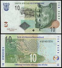 SOUTH AFRICA 10 RAND (P128b) N. D. (2009) UNC